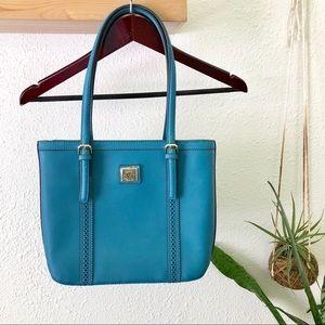 Anne Klein deep peacock blue handbag NWOT